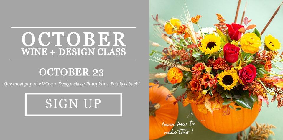 Flower class learn how to design flowers in a pumpkin