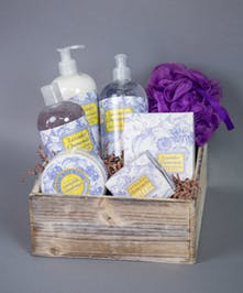 lotion soap loofah spa basket gift