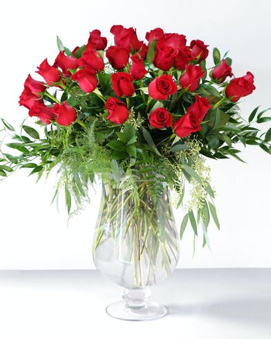 3 Dozen Red Roses Orlando (FL) Glass Vase