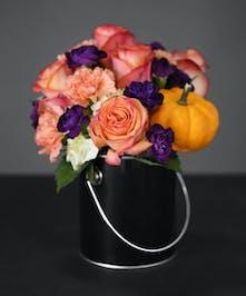 Orange & Red Roses - Holloween Floral Designs Orlando Florist