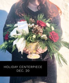 Learn how to design your own holiday centerpiece!