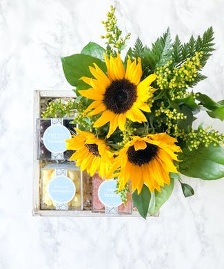 Sunflowers Sweets Gift Box