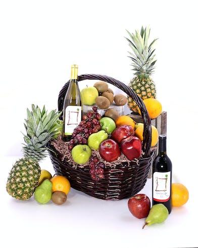 Fruit & Wine Basket Delivery Orlando (FL) Same-day Delivery