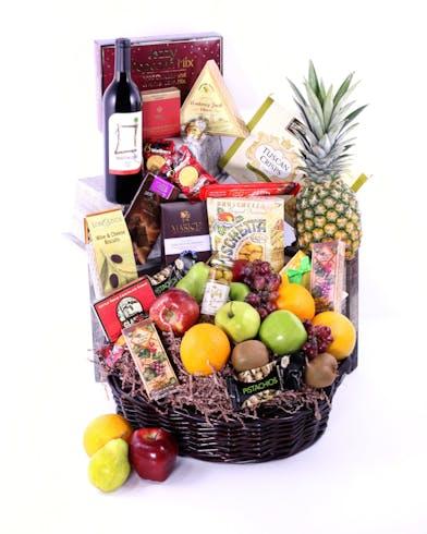 Wine Basket Delivery Orlando (FL) In Bloom Florist