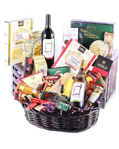 Cheese & Wine Basket Delivery Orlando (FL) In Bloom Florist