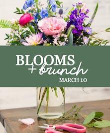 Get your brunch on while you design a fresh spring floral arrangement!
