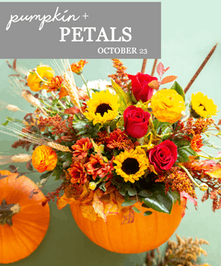 Learn how to design flowers in a real pumpkin!