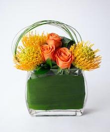 Protea + Roses Arrangement