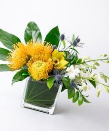 Protea + Orchid Arrangement