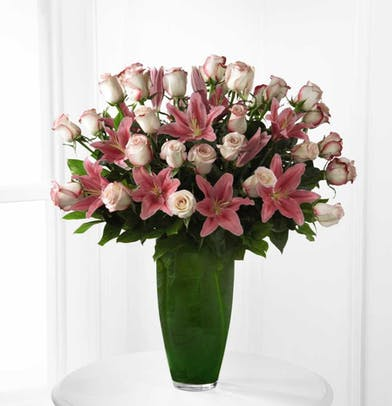 Pink Lilies & Rose Delivery Orlando (FL) In Bloom Florist
