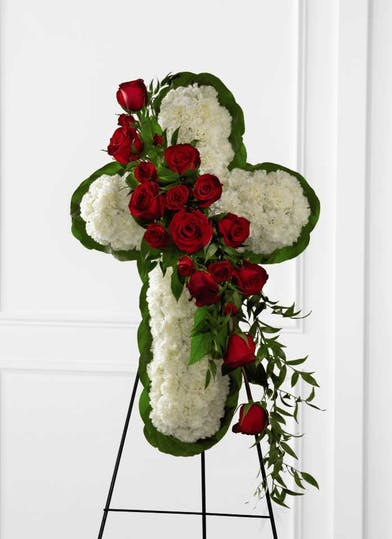 Floral Cross Easel Orlando (FL) In Bloom Florist