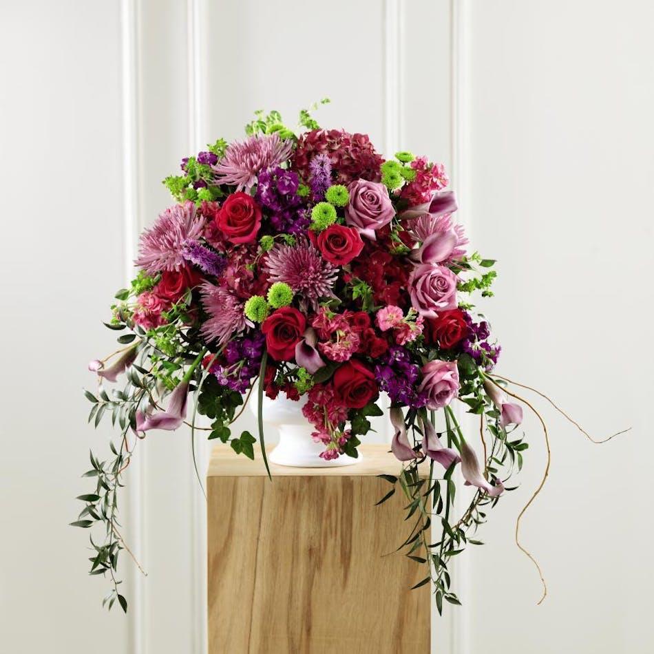 Purple pink sympathy floral arrangement orlando fl in bloom purple pink sympathy floral arrangement orlando fl in bloom florist izmirmasajfo