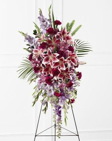 Lavender & Lilies Standing Spray - Orlando (FL) In Bloom Florist