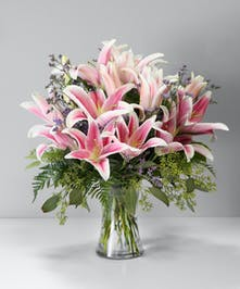 Enchanting Stargazer Lilly Arrangement Orlando (FL) Same-day Delivery