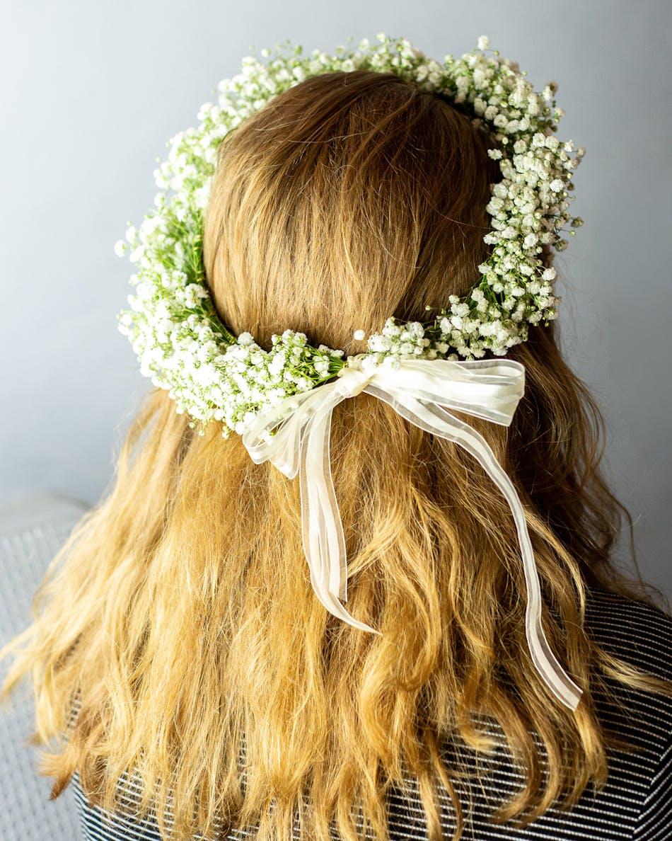 Babys Breath Flower Crown In Bloom Florist Orlando Fl Same