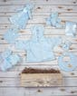 Beary Comfy Baby Basket - Blue